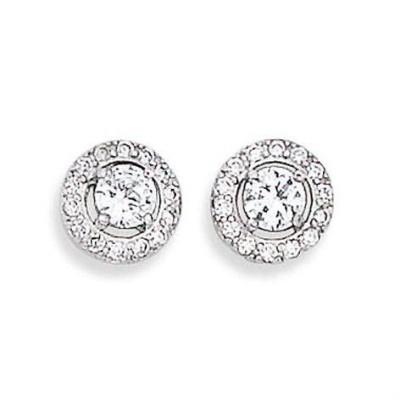 Boucles d'oreille zircon et argent pour femme - Eclat de lumière - Lyn&Or Bijoux