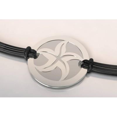 Bracelet argent et acier - Etoile de mer