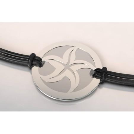 Bracelet créateur pour femme, homme Etoile acier, en argent