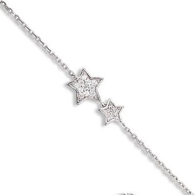 Bracelet étoile en argent et zirconium pour femme - Cassiopée - Lyn&Or Bijoux