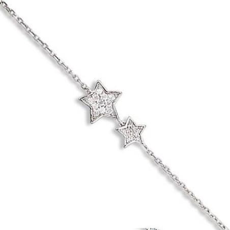 Bracelet fantaisie en argent - Cassiopé
