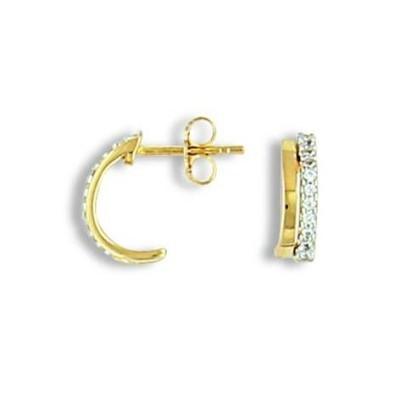 Boucles d'oreilles fantaisie en plaqué or pour femme, Altesse