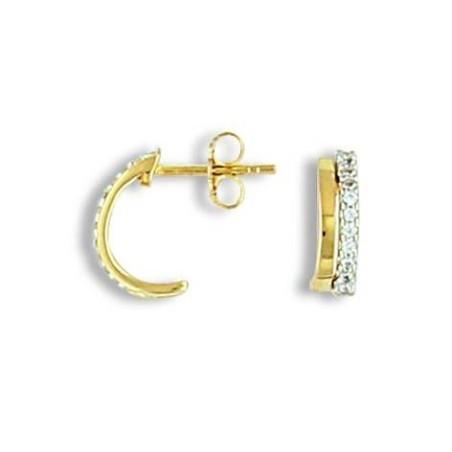 Boucles d'oreilles fantaisie en plaqué or - Altesse