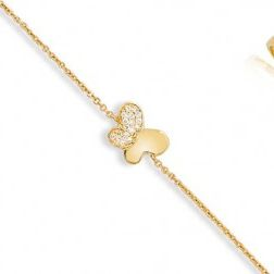 Bracelet papillon en plaqué or - Golden-Butterfly