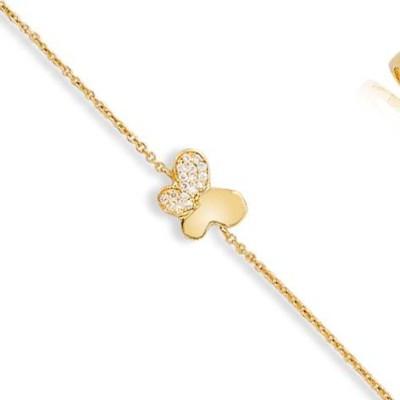 Gourmette en plaqué or pour femme, Golden Butterfly