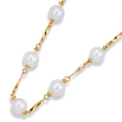 Collier de perles blanches pour femme en plaqué or - Triniti - Lyn&Or Bijoux