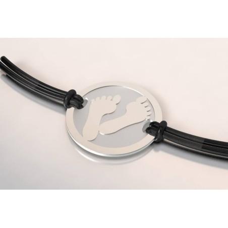 Bracelet créateur original Pied acier, en argent 925