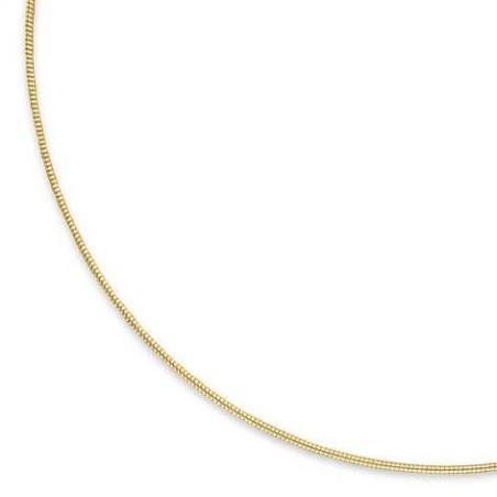 Fin Collier câble en plaqué or pour femme, 1 mm