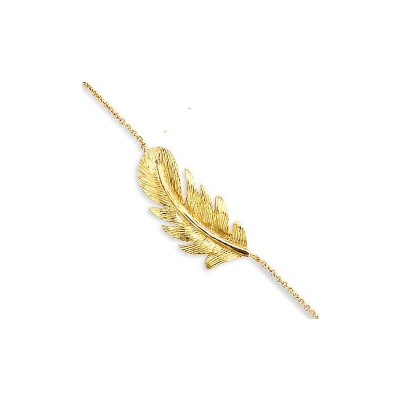 Gourmette en plaqué or pour femme, Douce Brise