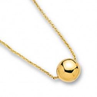 Collier en plaqué or avec perle dorée - Aanor