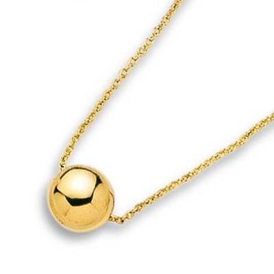 Collier en plaqué or avec perle dorée pour femme - Aanor