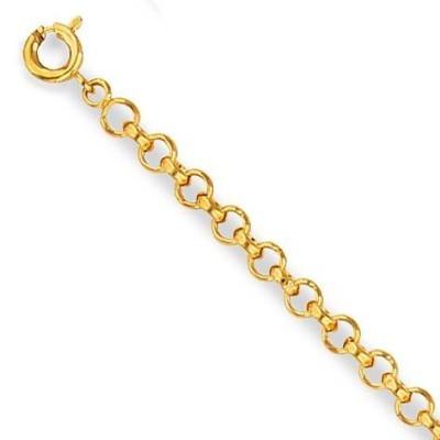 Bracelet femme en plaqué or, Maille Jaseron 3 mm - Lyn&Or Bijoux