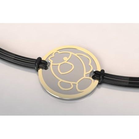 Bracelet créateur original mixte Poisson acier - or