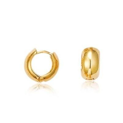 Créoles en plaqué or 14 mm pour femme - Danse