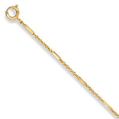 Chaîne de cheville plaqué or pour femme, Estelle