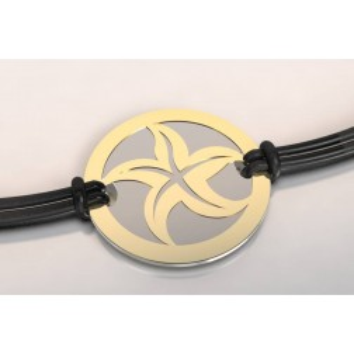 Bracelet créateur original pour femme, homme Etoile acier, or