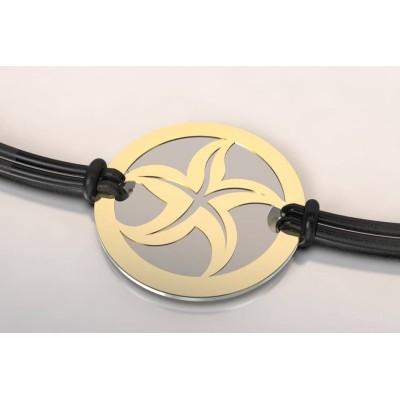 Bracelet créateur en acier et or pour femme - Etoile de mer - Lyn&Or Bijoux