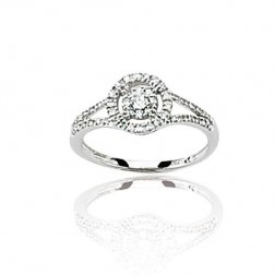 Bague en or blanc 18 carats, diamant - Roxane