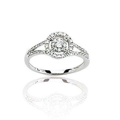 Bague de fiançailles pour femme en or blanc & diamant solitaire - Roxane - Lyn&Or Bijoux