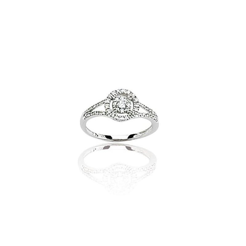 bague diamant 18 carats