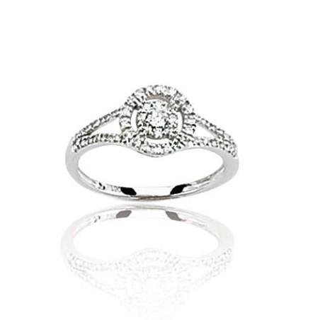 Bague en or blanc 18 carats, diamant - Roxane