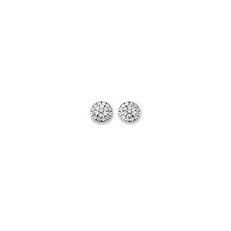 Boucles d'oreille or blanc 18 carats - Olympe