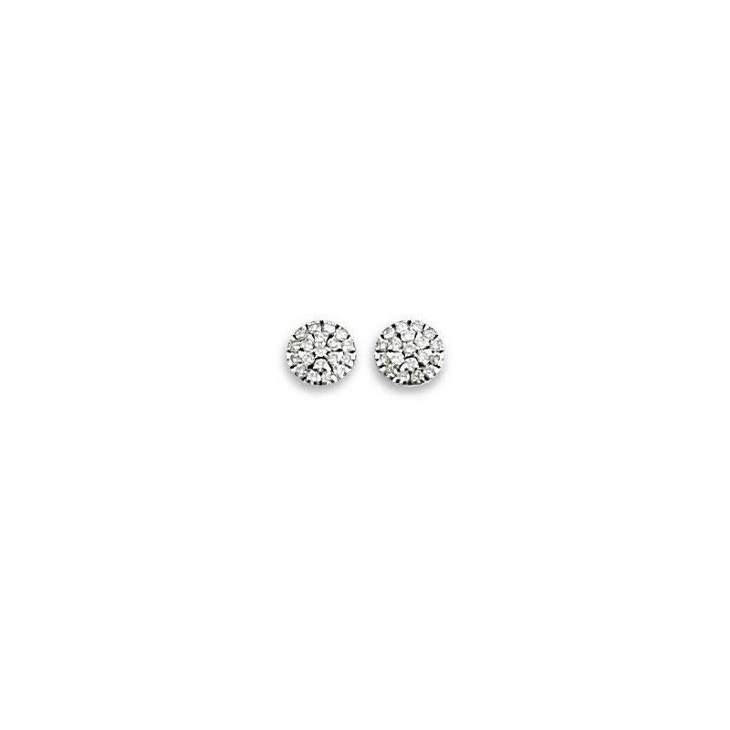 Boucles d'oreille or blanc 18 carats, Olympe