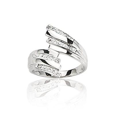 Bague pour femme en diamants et or blanc 18 carats - Orléans - Lyn&Or Bijoux
