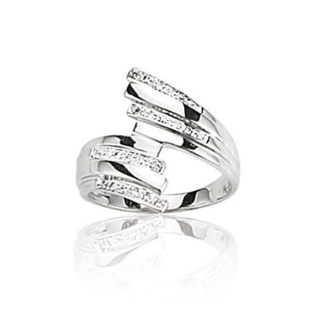 Bague en or blanc 18 carats, diamant - Orléans