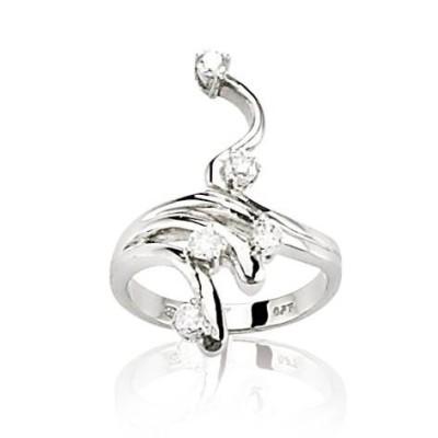 Bague en or blanc 18 carats, diamants pour femme - Cassandre