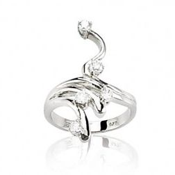 Bague en or blanc 18 carats, diamants - Cassandre