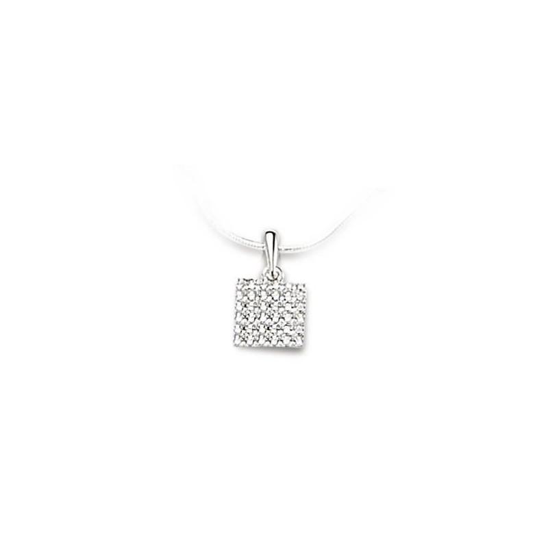 Pendentif or blanc 18 carats et diamant, Cassiopée