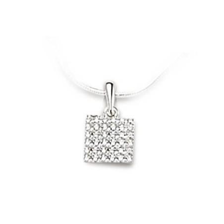 Pendentif en or blanc 18 carats et diamant - Cassiopée