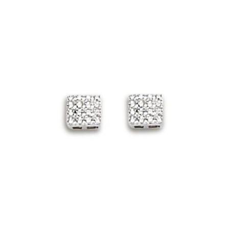Boucle d'oreilles diamants et or blanc 18 carats pour femme, Cassiopée