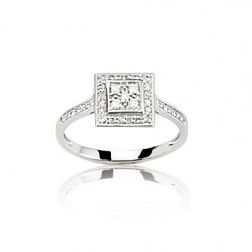 Bague en or blanc 18 carats et diamants - Casamance