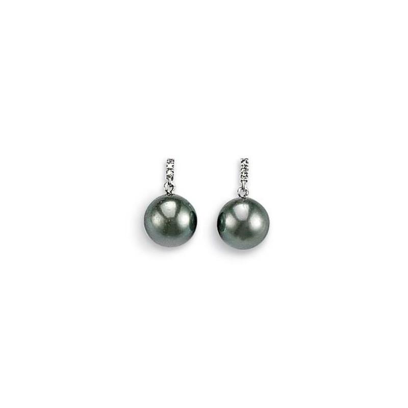 Boucles d'oreilles diamant et perle - Océanie