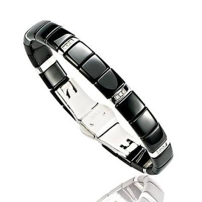 Bracelet Céramique noire, Diamant pour femme - Sidney - Lyn&Or Bijoux
