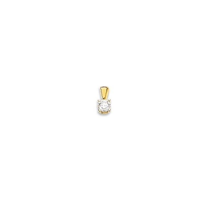 Pendentif diamant et or jaune 18 carats, Delta