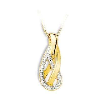 Pendentif femme en or bicolore & diamants, Athéna - Lyn&Or Bijoux