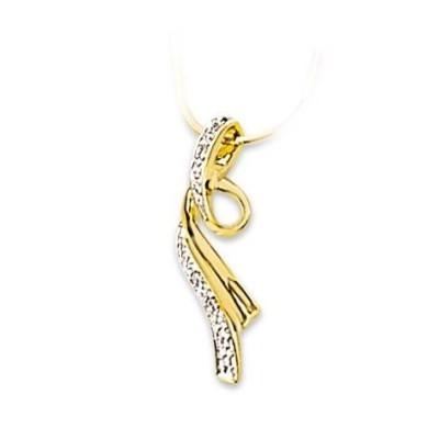 Pendentif or jaune 18 carats et Diamant, Signature