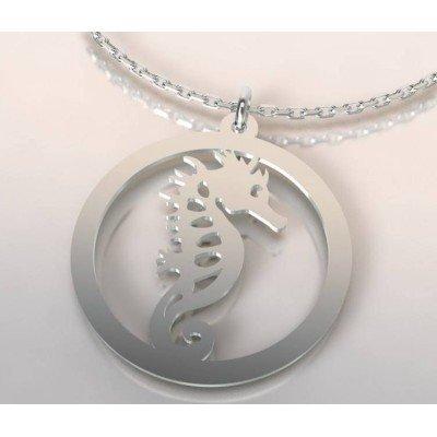 Collier de créateur en argent pour femme - Hippocampe - Lyn&Or Bijoux