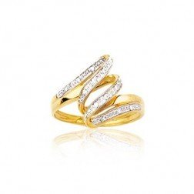 Bague femme en or 18 carats et diamants - Mirages - Lyn&Or Bijoux