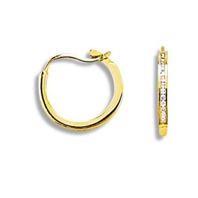 Créoles en or et diamant - Perfection