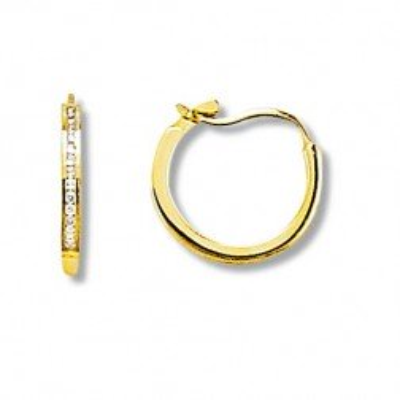 Créoles femme en or jaune & diamants, Perfection - Lyn&Or Bijoux