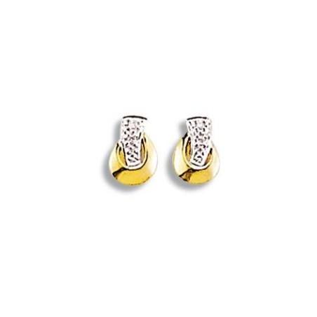 Boucles d'oreilles en or 18 carats et diamants - Trésor