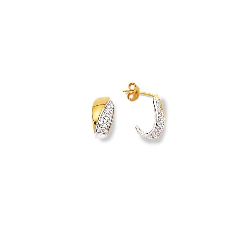 bijoux d'oreille femme doré