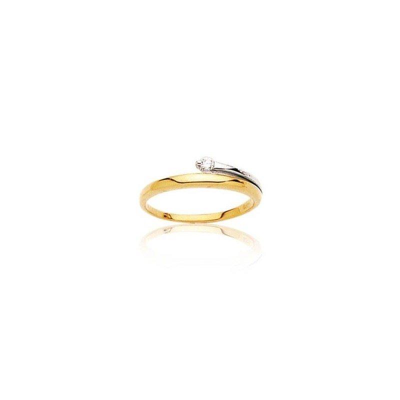 Bague femme en or bicolore et diamant - Infini - Lyn&Or Bijoux