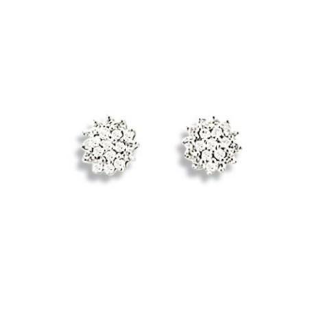 Boucles d'oreilles diamant en or jaune 18 carats pour femme, Bellatrix