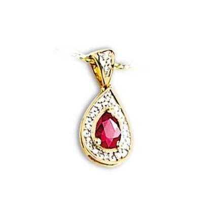 Pendentif en or, diamant et rubis pour femme - Duchesse - Lyn&Or Bijoux