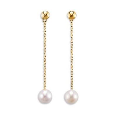 Boucles d'oreilles or, perle d'eau douce pour femme - Discrétion - Lyn&Or Bijoux